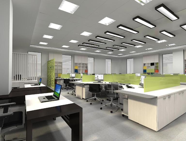 Cách trang trí nội thất văn phòng Cty hiện đại