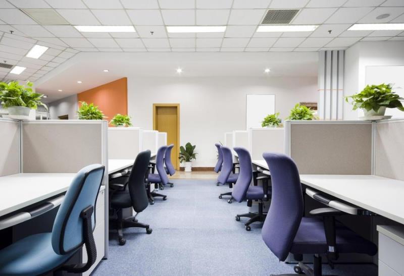 Cách thiết kế nội thất văn phòng với vách ngăn