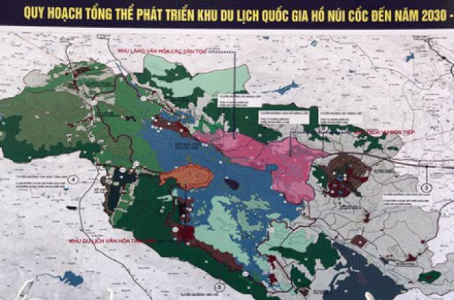 Thái Nguyên: Triển khai công tác lập đồ án quy hoạch chung xây dựng Khu du lịch quốc gia Hồ Núi Cốc