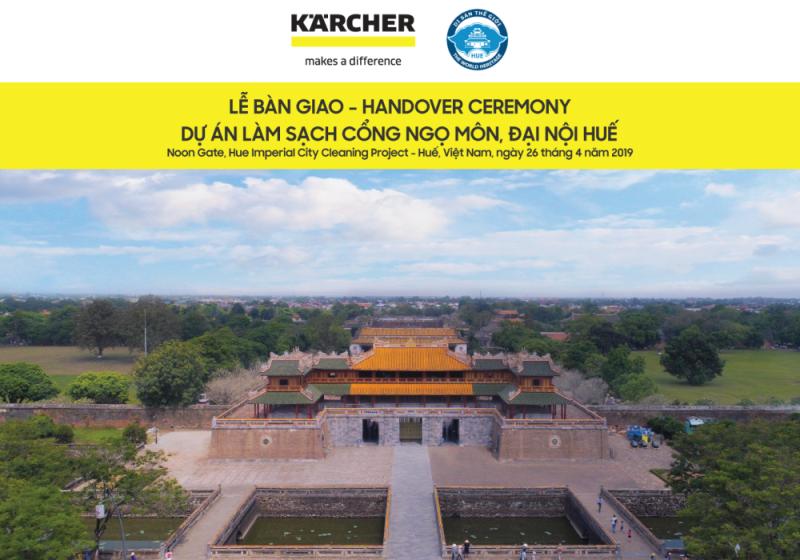 Thừa Thiên - Huế: Bàn giao dự án làm sạch Cổng Ngọ Môn