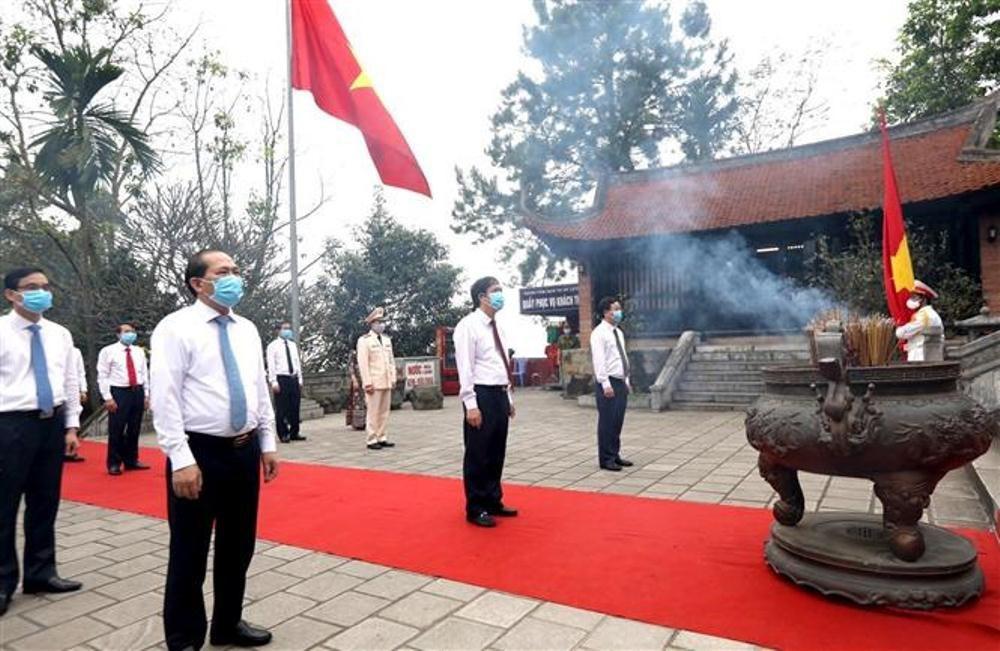 Phú Thọ: Lễ giỗ tổ Hùng Vương vắng vẻ trong mùa dịch Covid-19