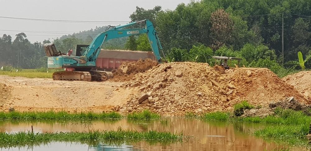 Thừa Thiên - Huế: Phát hiện khu tái định cư 21 tỷ đồng san nền bằng đất tạp, rễ cây