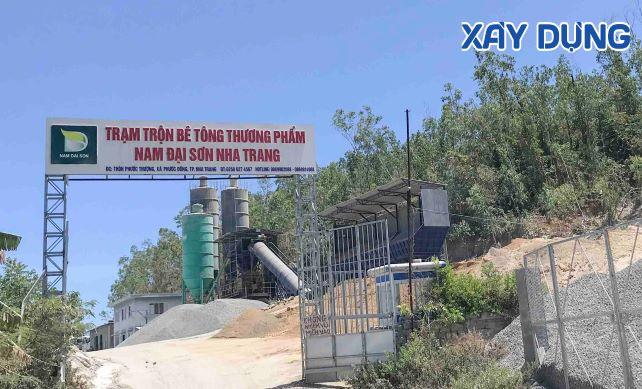 Khánh Hòa: Trạm trộn bê tông Nam Đại Sơn hoạt động không phép