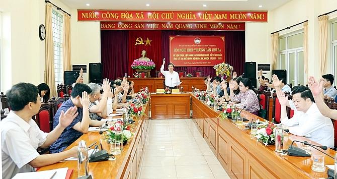 vinh phuc 8 nguoi tham gia ung cu dai bieu quoc hoi va 85 nguoi ung cu dai bieu hdnd tinh