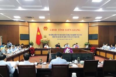 Hội đồng kiểm tra, chấp thuận nghiệm thu hoàn thành đưa tuyến đường Lộ Tẻ-Rạch Sỏi đưa vào sử dụng