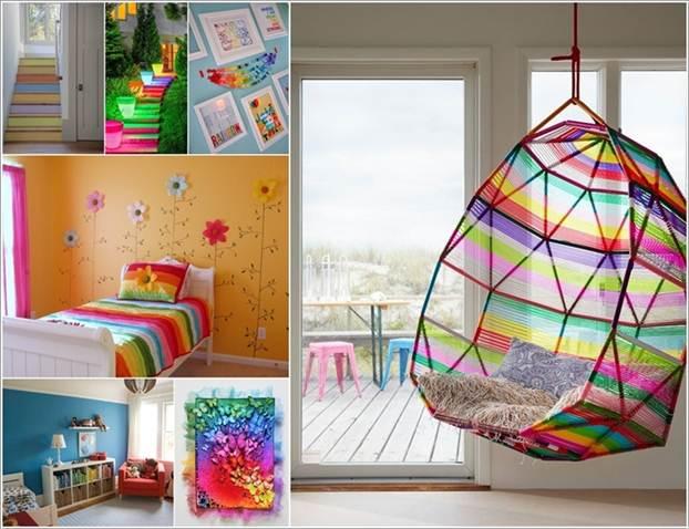 15 ý tưởng trang trí nội thất lấy cảm hứng từ cầu vồng