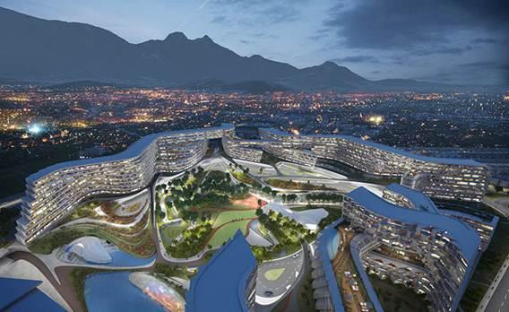 192957baoxaydung image002 Tham quan Esfera City Center Dự án khu dân cư với kiến trúc tổ ong độc đáo