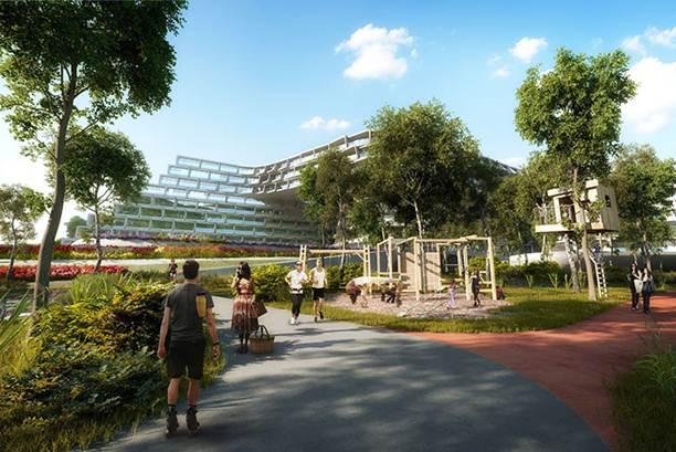 193000baoxaydung image006 Tham quan Esfera City Center Dự án khu dân cư với kiến trúc tổ ong độc đáo
