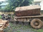 Xử lý vụ vận chuyển gỗ lậu trong khu vực Đồn Biên phòng quản lý