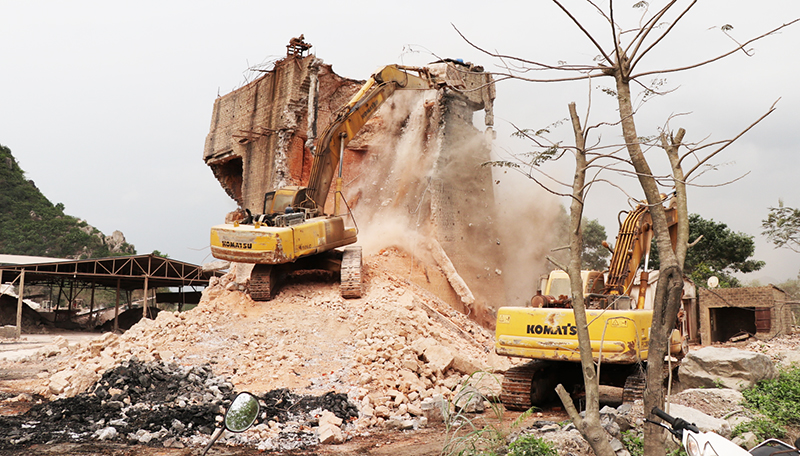 Quảng Ninh: Lò vôi thủ công cuối cùng ở TP Uông Bí được tháo dỡ