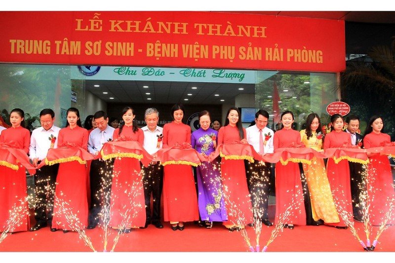 Khánh thành Trung tâm Sơ sinh thuộc Bệnh viện Phụ sản Hải Phòng