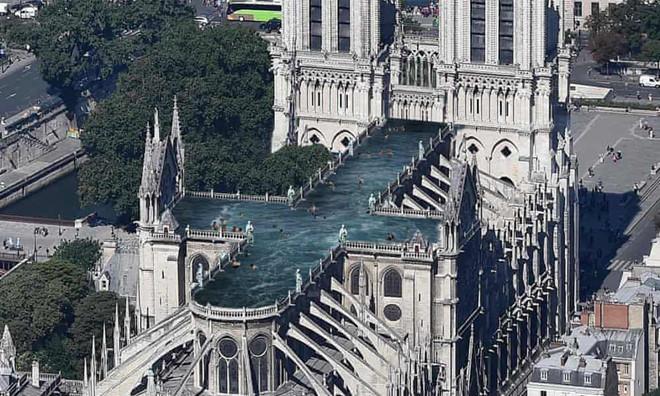 Công ty Thụy Điển đề xuất xây bể bơi trên nóc Nhà thờ Đức bà