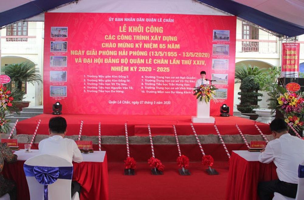 Hải Phòng: Khởi công 10 công trình trường học trên địa bàn quận Lê Chân