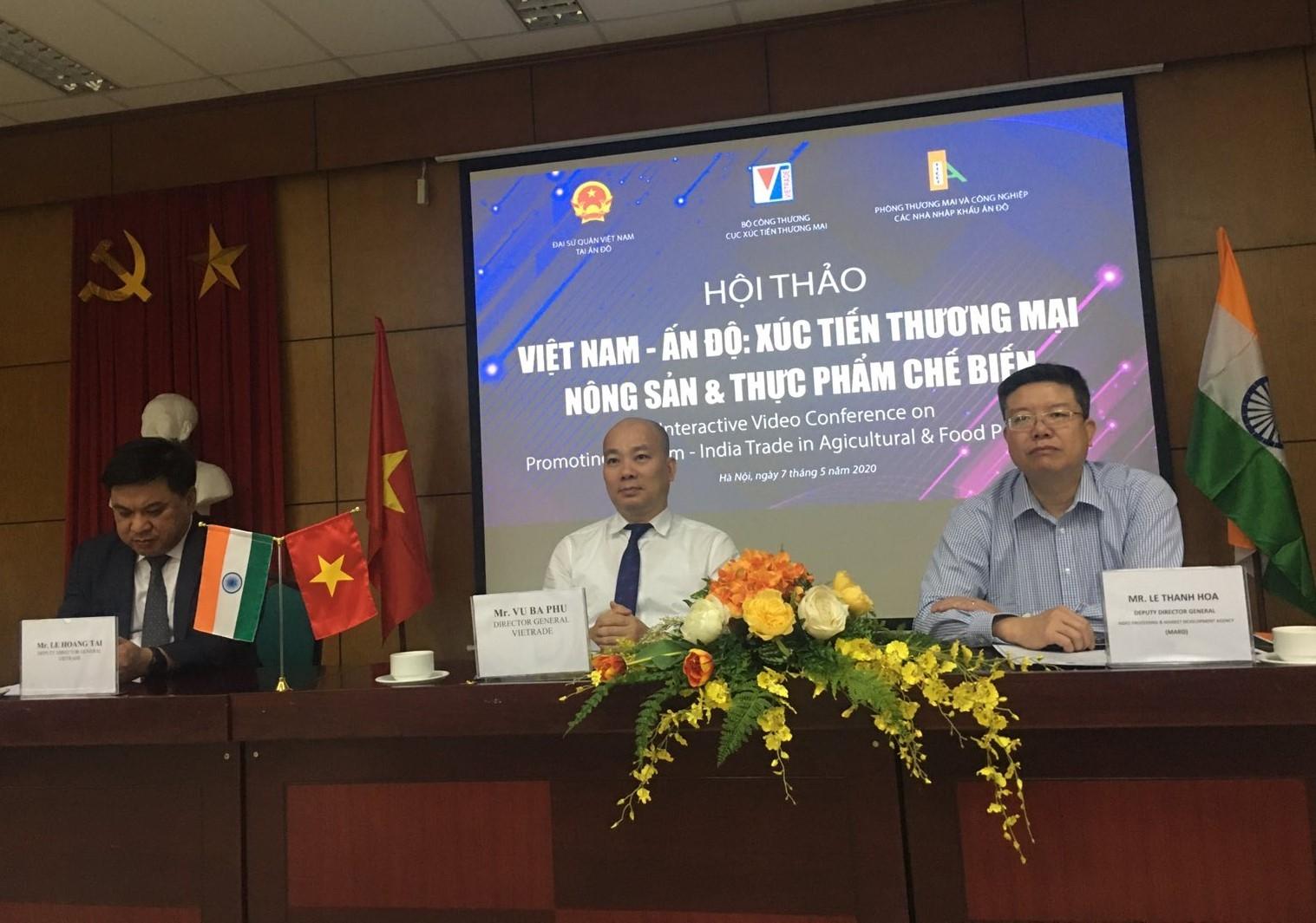 Xúc tiến thương mại nông sản, thực phẩm Việt Nam - Ấn Độ: Không vì Covid-19 mà chùn bước giao thương