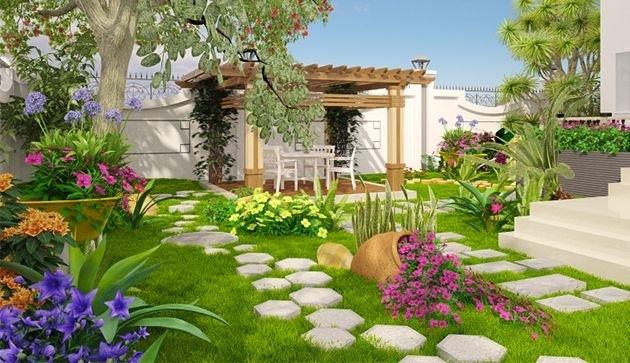 Các điều kiện cần có để thiết kế một sân vườn đẹp