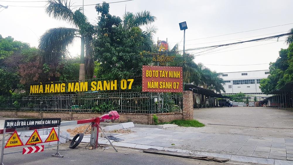 """Cầu Giấy (Hà Nội): Nhà hàng bò tơ Tây Ninh Năm Sánh 07 nhiều năm """"cố thủ"""" trên đất nông nghiệp"""