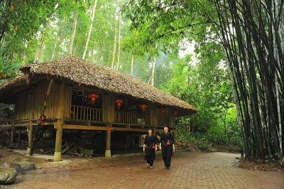 Thăm khu bảo tồn làng nhà sàn dân tộc Thái Hải ở an toàn khu Định Hóa