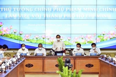 Thủ tướng Phạm Minh Chính làm việc với TPHCM, giải quyết những vấn đề trọng tâm, cấp bách của Thành phố