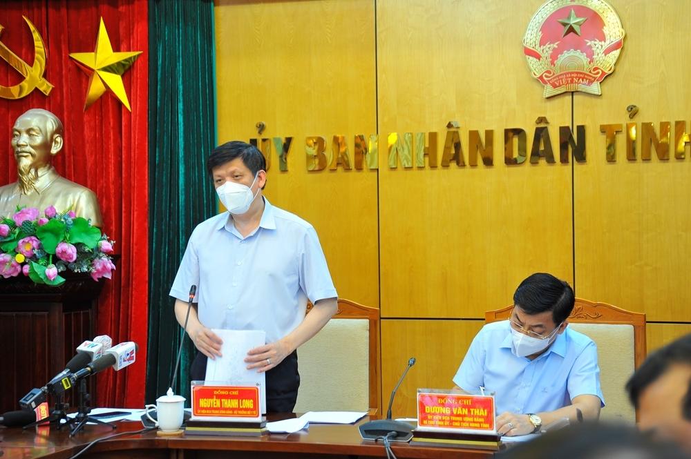 """Bộ trưởng Bộ Y tế: """"Bắc Giang phải đặt trong tình trạng báo động cao nhất"""""""