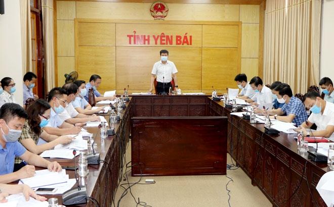 Chủ tịch UBND tỉnh Yên Bái làm việc về tiến độ thực hiện kế hoạch đầu tư công và giải ngân vốn xây dựng cơ bản năm 2021