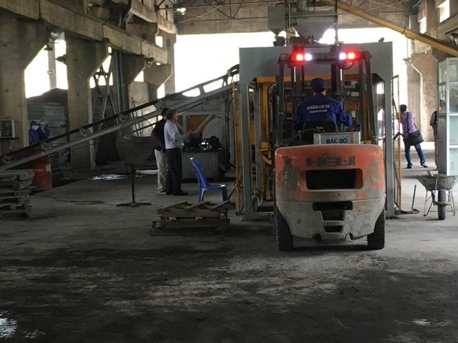 sản xuất gạch bê tông không nung tại nhà máy xi măng Lưu Xá, Thái Nguyên