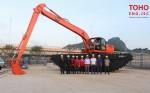 Máy xúc đào lội nước EIK – Thiết bị chuyên dụng thi công vùng đầm lầy