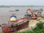 Nhiều bến bãi cát, sỏi trái phép vẫn ngang nhiên hoạt động ở Phú Thọ
