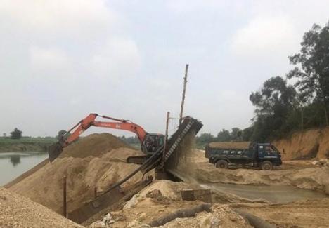 Nghệ An: Xử phạt 9 trường hợp vi phạm khai thác tài nguyên khoáng sản trên sông