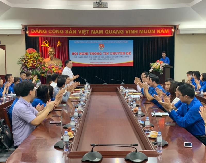 Hội nghị thông tin chuyên đề cho cán bộ Đoàn chủ chốt, đội ngũ báo cáo viên và nhà báo trẻ Khối các cơ quan Trung ương