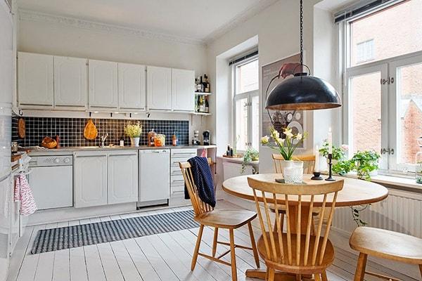 Cách bố trí bàn ăn cho phòng bếp nhỏ hẹp