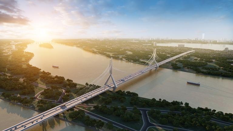 Công bố phương án thiết kế cầu Tứ Liên nối quận Tây Hồ với Đông Anh