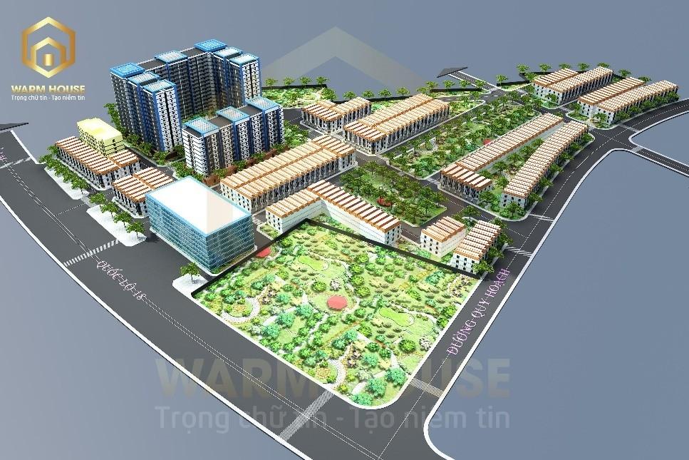 Warm House chính thức phân phối độc quyền dự án nhà ở xã hội Sao Hồng - Quế Võ, Bắc Ninh