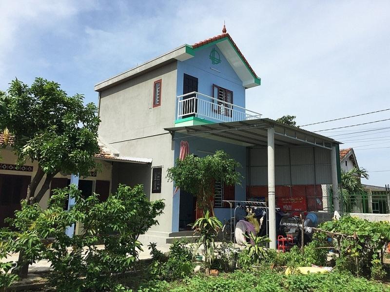 Căn nhà 2 tầng kiên cố của một hộ dân từ sự trợ lực của vốn vay ưu đãi.