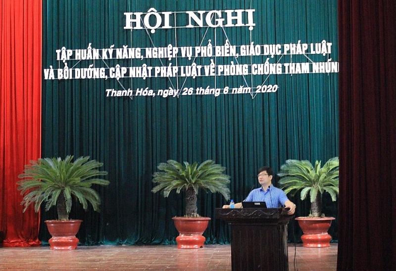 thanh hoa tap huan boi duong kien thuc phap luat ve phong chong tham nhung nam 2020