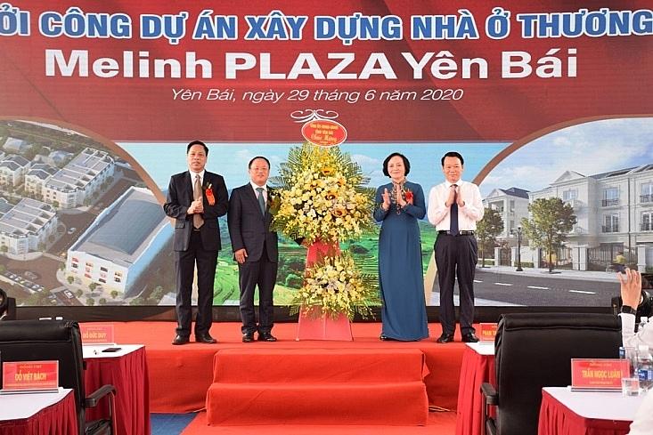 khoi cong du an xay dung nha o thuong mai melinh plaza yen bai