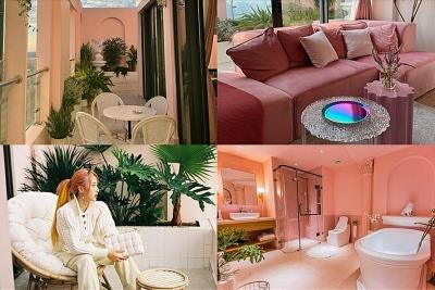 Độc đáo penthouse 9 tỉ phong cách Hy Lạp cổ, tông hồng của Quỳnh Anh Shyn