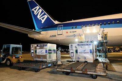 Gần 1 triệu liều vắc xin của Chính phủ Nhật Bản tặng Việt Nam đã tới sân bay Quốc tế Nội Bài