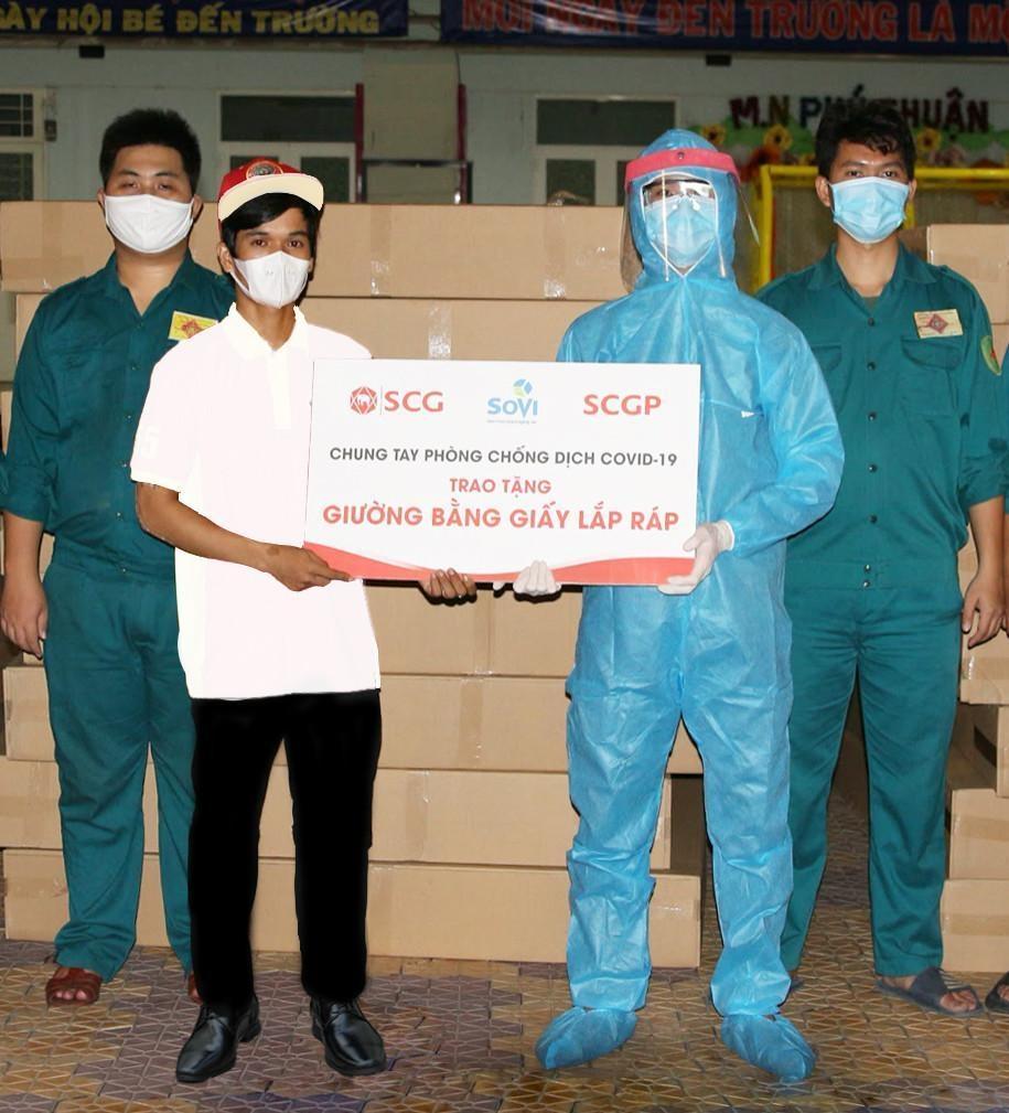 SCGP hỗ trợ Thành phố Hồ Chí Minh 1000 giường giấy chống dịch Covid-19