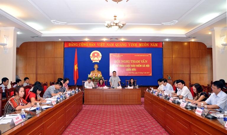 Hội nghị tham vấn về dự thảo Luật Bảo hiểm xã hội sửa đổi