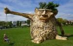 Những tác phẩm điêu khắc tuyệt đẹp từ gỗ phế thải