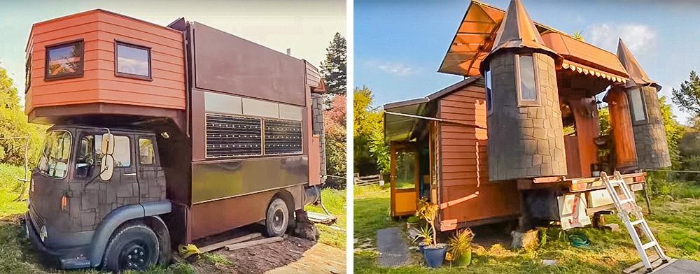141208baoxaydung image001 Thiết kế biến xe tải cũ thành ngôi nhà di động
