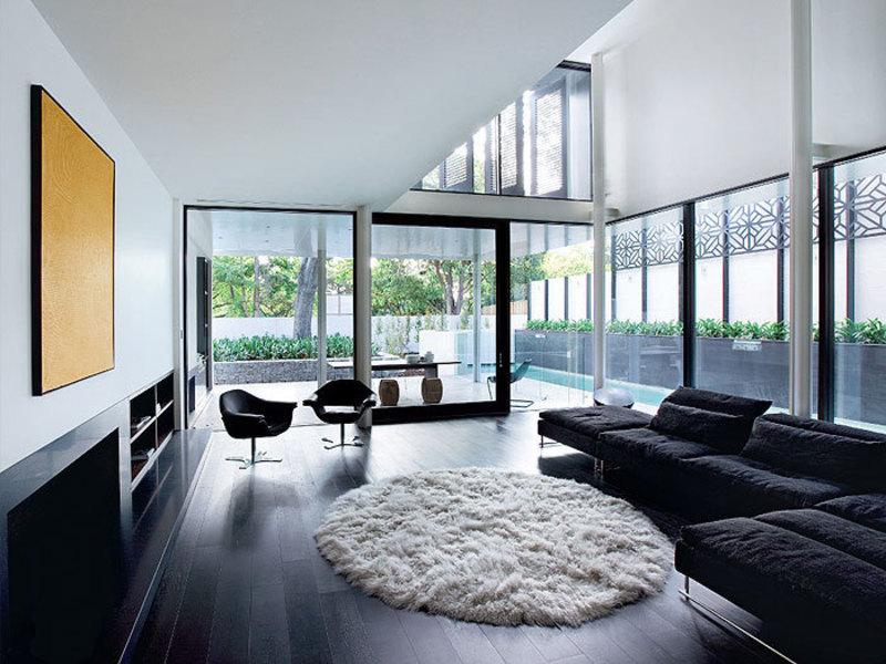 Mẹo phối đồ nội thất với sàn gỗ màu tối
