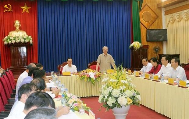 Thường trực Ban Bí thư Trần Quốc Vượng làm việc với tỉnh Hà Nam