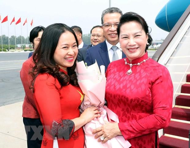 Chủ tịch Quốc hội đến Bắc Kinh, tiếp tục chuyến thăm Trung Quốc