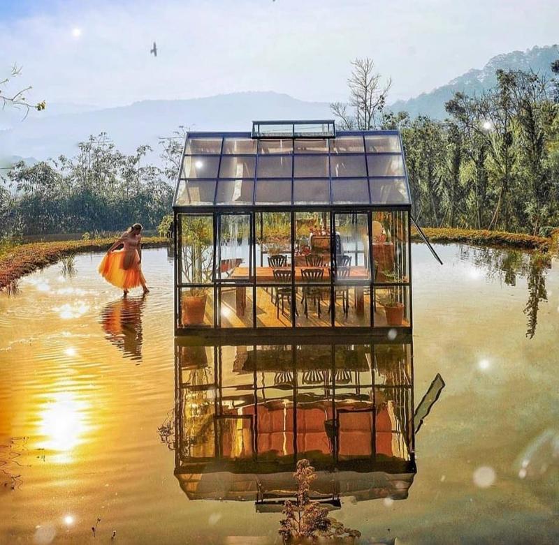 Mê mẩn quán cà phê trên mặt hồ thơ mộng ở Đà Lạt