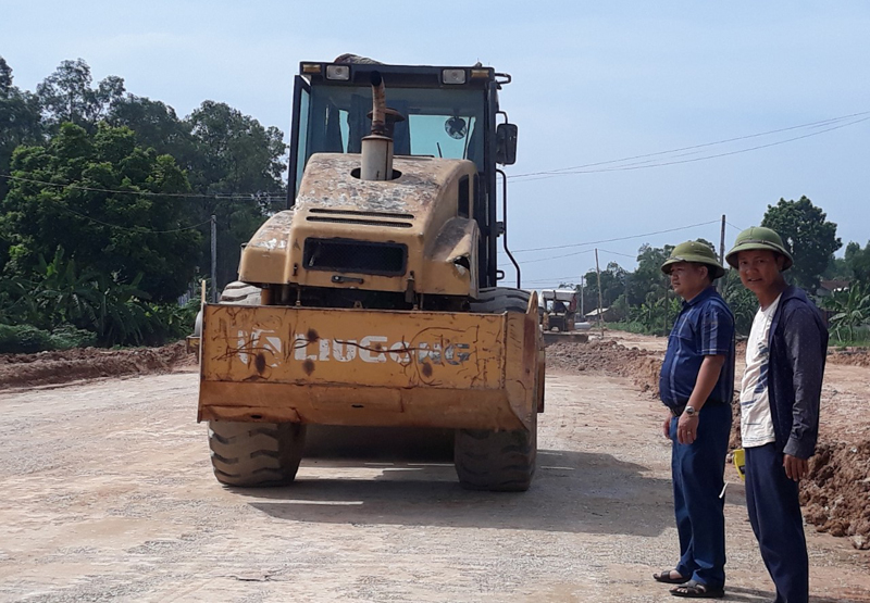 Lập Thạch (Vĩnh Phúc): Đẩy nhanh tiến độ thi công các dự án trọng điểm