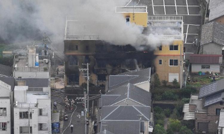 Cháy lớn tại xưởng phim hoạt hình Nhật, ít nhất 24 người chết