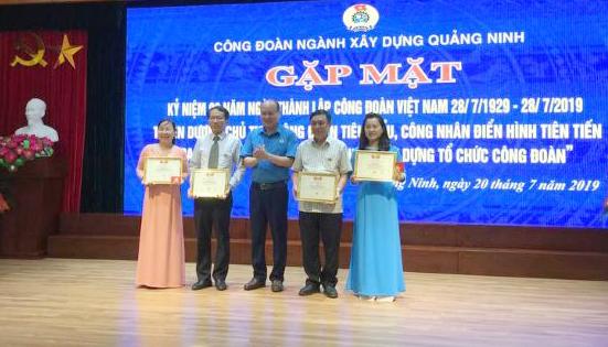 Ngành Xây dựng Quảng Ninh: Kỷ niệm 90 năm ngày thành lập Công đoàn Việt Nam