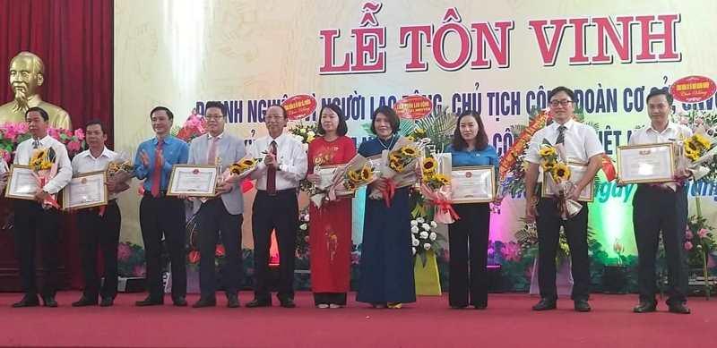 Thái Nguyên: Tôn vinh 184 doanh nghiệp vì người lao động, CNVCLĐ và Chủ tịch Công đoàn cơ sở tiêu biểu
