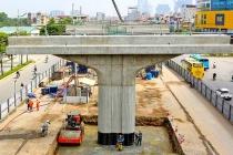 Cầu cạn Mai Dịch - Nam Thăng Long đạt 88% tiến độ